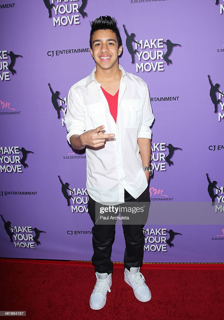 Singer Miguelito attends the premiere of 'Make Your Move' at the Pacific Theaters at the Grove on March 31, 2014 in Los Angeles, California.