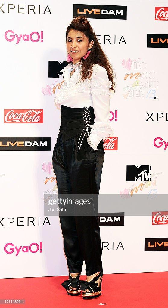 Singer Miho Fukuhara attends the MTV Video Music Awards Japan 2013 at Makuhari Messe on June 22, 2013 in Chiba, Japan.
