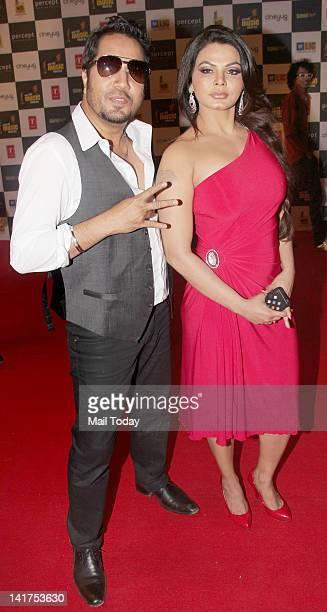 Singer Mika and Rakhi Sawant at the Radio Mirchi Music Awards 2012 held at Bhavans College in Mumbai on March 21 2012