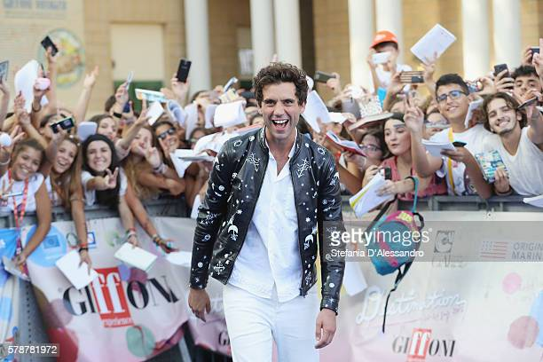 Singer Mika attends the Giffoni Film Festival blue carpet on July 22 2016 in Giffoni Valle Piana Italy