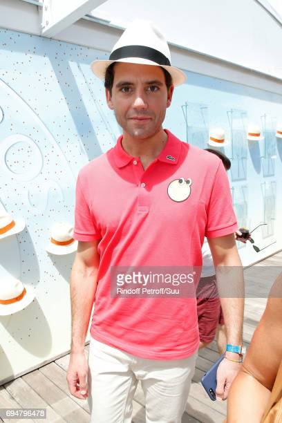 Singer Mika attends the Men Final of the 2017 French Tennis Open Day Fithteen at Roland Garros on June 11 2017 in Paris France
