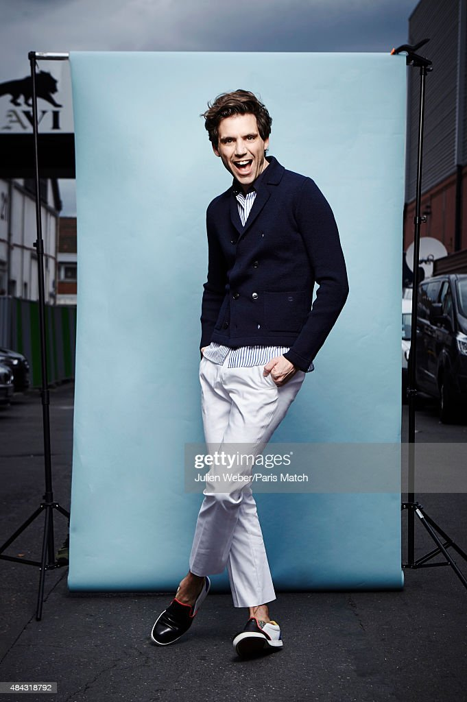 Singer <a gi-track='captionPersonalityLinkClicked' href=/galleries/search?phrase=Mika&family=editorial&specificpeople=686723 ng-click='$event.stopPropagation()'>Mika</a> is photographed for Paris Match on April 25, 2015 in Paris, France.