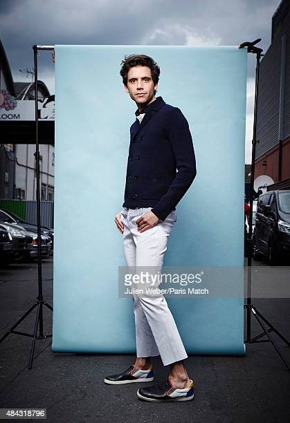 Singer Mika is photographed for Paris Match on April 25 2015 in Paris France