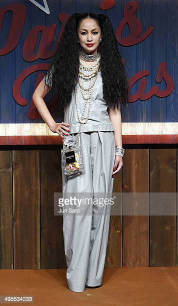 Singer Mika Nakashima attends CHANEL 2013/14 'ParisDallas Metiers d'Art Collection' at Toranomon Hills on June 4 2014 inTokyo Japan