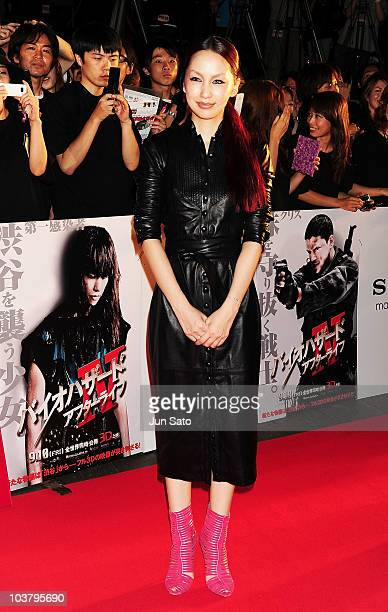 Singer Mika Nakashima attends the World Premiere of 'Resident Evil Afterlife' at Roppongi Hills on September 2 2010 in Tokyo Japan The film opens in...