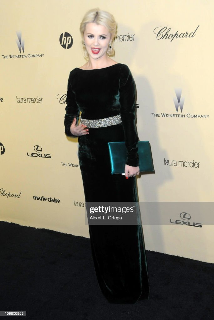 Singer Mika Newton arrivs for the Weinstein Company's 2013 Golden Globe Awards After Party - Arrivals on January 13, 2013 in Beverly Hills, California.
