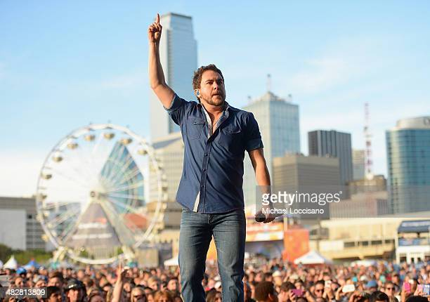 Singer Mike Eli of Eli Young Band performs onstage at the ATT Block Party at NCAA March Madness Music Festival Day 1 at Reunion Park on April 4 2014...