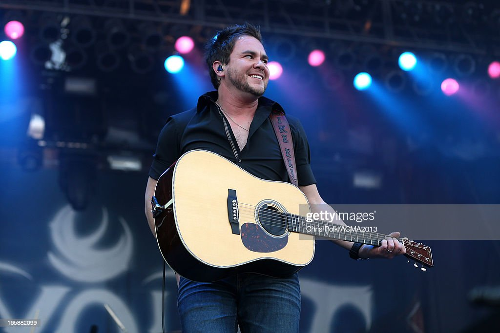 Singer Mike Eli of the Eli Young Band performs onstage at the ACM Party For A Cause Festival during the 48th Annual Academy of Country Music Awards at the Orleans Arena on April 6, 2013 in Las Vegas, Nevada.