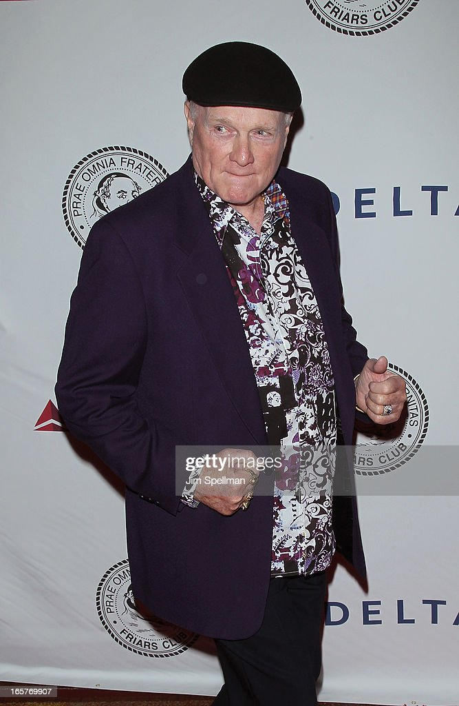 Singer <a gi-track='captionPersonalityLinkClicked' href=/galleries/search?phrase=Mike+Love&family=editorial&specificpeople=93771 ng-click='$event.stopPropagation()'>Mike Love</a> attends The Friars Club Roast Honors Jack Black at New York Hilton and Towers on April 5, 2013 in New York City.