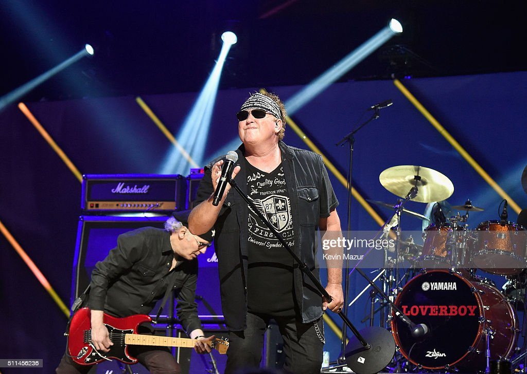 Singer Mike Reno of Loverboy performs onstage during the first ever iHeart80s Party at The Forum on February 20 2016 in Inglewood California