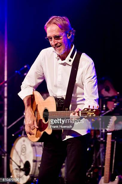 Singer Mike Rutherford of the British band Mike The Mechanics performs live during a concert at the Postbahnhof on September 25 2016 in Berlin Germany