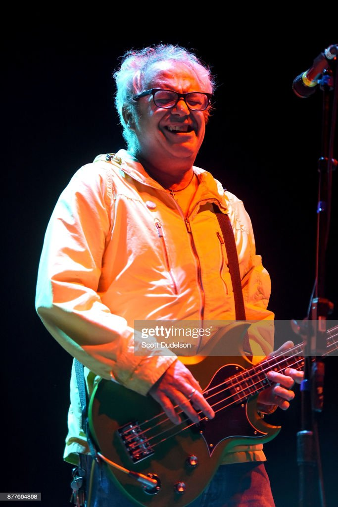 Singer Mike Watt, formerly of The Mintuemen and Firehose, performs an opening set with his band The Secondmen during X 40th anniversary tour at The Novo by Microsoft on November 22, 2017 in Los Angeles, California.