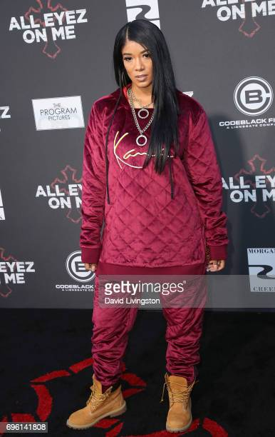 Singer Mila J attends the premiere of Lionsgate's 'All Eyez On Me' on June 14 2017 in Los Angeles California