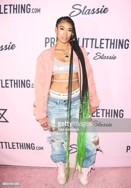 Singer Mila J attends the 'PrettyLittleThing' campaign launch on April 11 2017 in Los Angeles California
