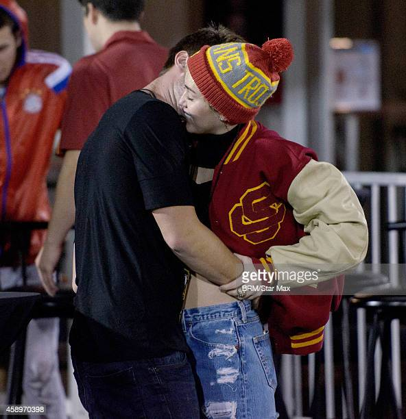 Singer Miley Cyrus and Patrick Schwarzenegger are seen on November 13 2014 in Los Angeles California