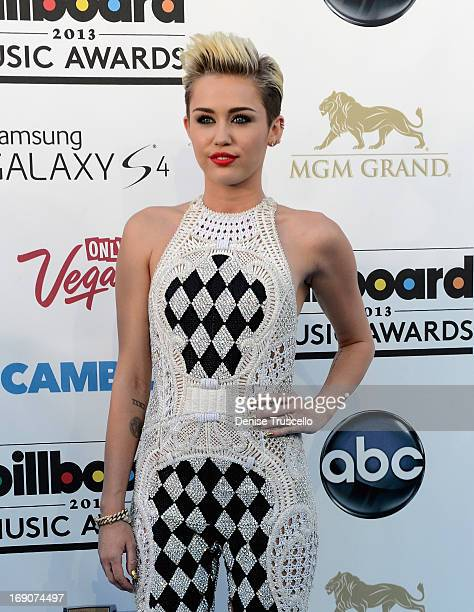 Singer Miley Cyrus arrives at the 2013 Billboard Music Awards at the MGM Grand Garden Arena on May 19 2013 in Las Vegas Nevada