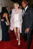 Singer Miley Cyrus arrives at the 2014 HYUNDAI / GRAMMYs Clive Davis PreGRAMMY Gala Activation Equus Fleet Arrivals at The Beverly Hilton Hotel on...