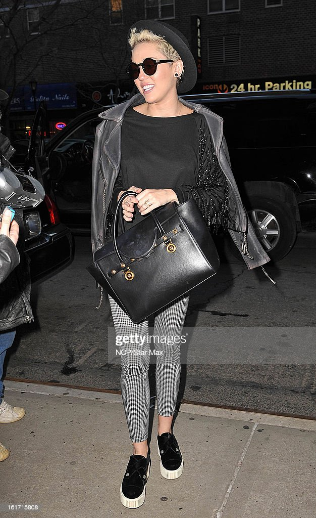 Singer Miley Cyrus as seen on February 14, 2013 in New York City.