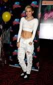 Singer Miley Cyrus attends her 'Bangerz' Record Release Signing at Planet Hollywood Times Square on October 8 2013 in New York City