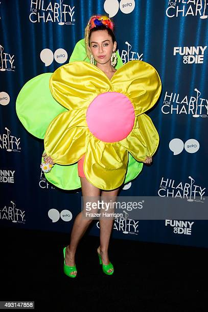Singer Miley Cyrus attends James Franco's Bar Mitzvah Hilarity for Charity's 4th annual variety show at the Hollywood Palladium on October 17 2015 in...