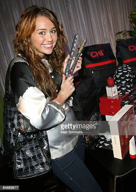 Singer Miley Cyrus attends the 51st Annual GRAMMY Awards Gift Lounge at the Staples Center on February 7 2009 in Los Angeles CA