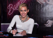 Singer Miley Cyrus attends the Miley Cyrus 'Bangerz' record release signing at Planet Hollywood Times Square on October 8 2013 in New York City
