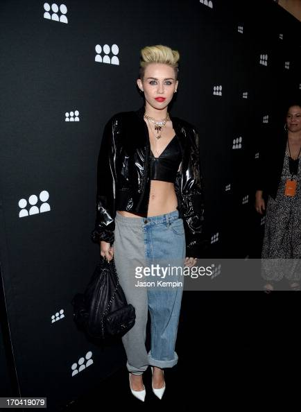 Singer Miley Cyrus attends the new Myspace launch event at the El Rey Theatre on June 12 2013 in Los Angeles California