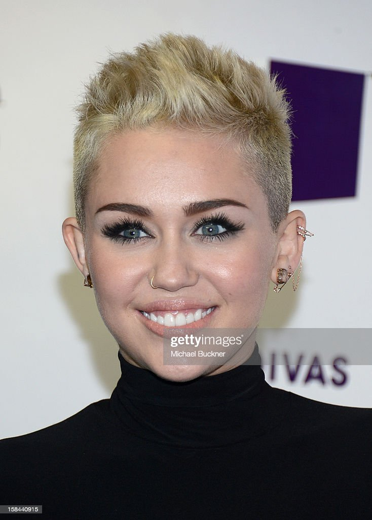 Singer Miley Cyrus attends 'VH1 Divas' 2012 at The Shrine Auditorium on December 16 2012 in Los Angeles California
