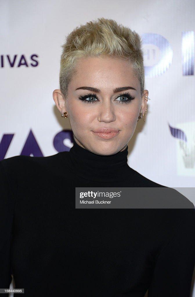 Singer Miley Cyrus attends 'VH1 Divas' 2012 at The Shrine Auditorium on December 16, 2012 in Los Angeles, California.