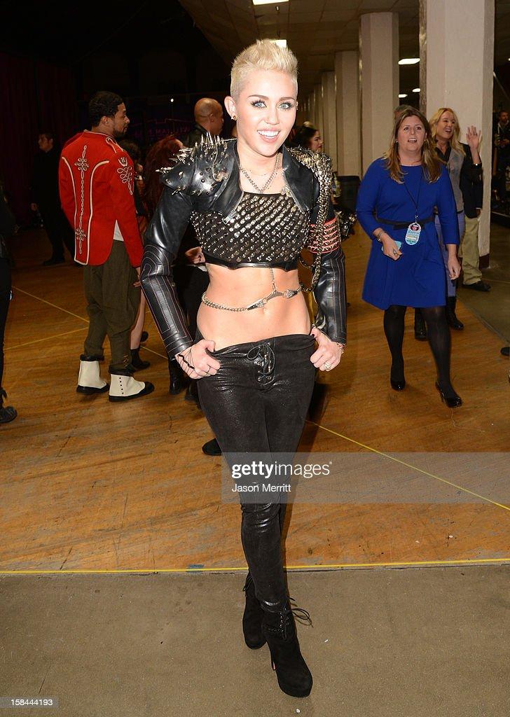 Singer Miley Cyrus attends 'VH1 Divas' 2012 held at The Shrine Auditorium on December 16, 2012 in Los Angeles, California.