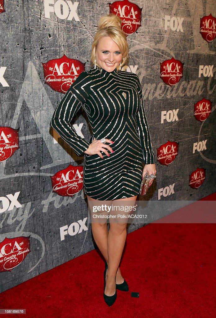 Singer Miranda Lambert arrives at the 2012 American Country Awards at the Mandalay Bay Events Center on December 10, 2012 in Las Vegas, Nevada.