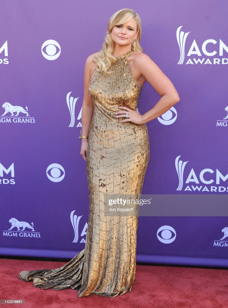 Singer <a gi-track='captionPersonalityLinkClicked' href=/galleries/search?phrase=Miranda+Lambert&family=editorial&specificpeople=571972 ng-click='$event.stopPropagation()'>Miranda Lambert</a> arrives at the 47th Annual Academy Of Country Music Awards held at the MGM Grand Garden Arena on April 1, 2012 in Las Vegas, Nevada.