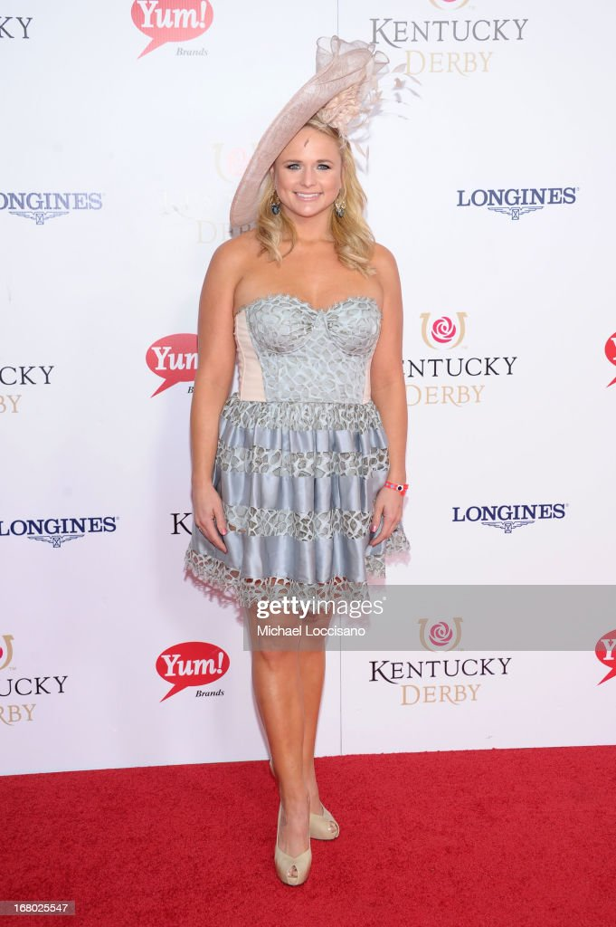 Singer <a gi-track='captionPersonalityLinkClicked' href=/galleries/search?phrase=Miranda+Lambert&family=editorial&specificpeople=571972 ng-click='$event.stopPropagation()'>Miranda Lambert</a> attends the 139th Kentucky Derby at Churchill Downs on May 4, 2013 in Louisville, Kentucky.