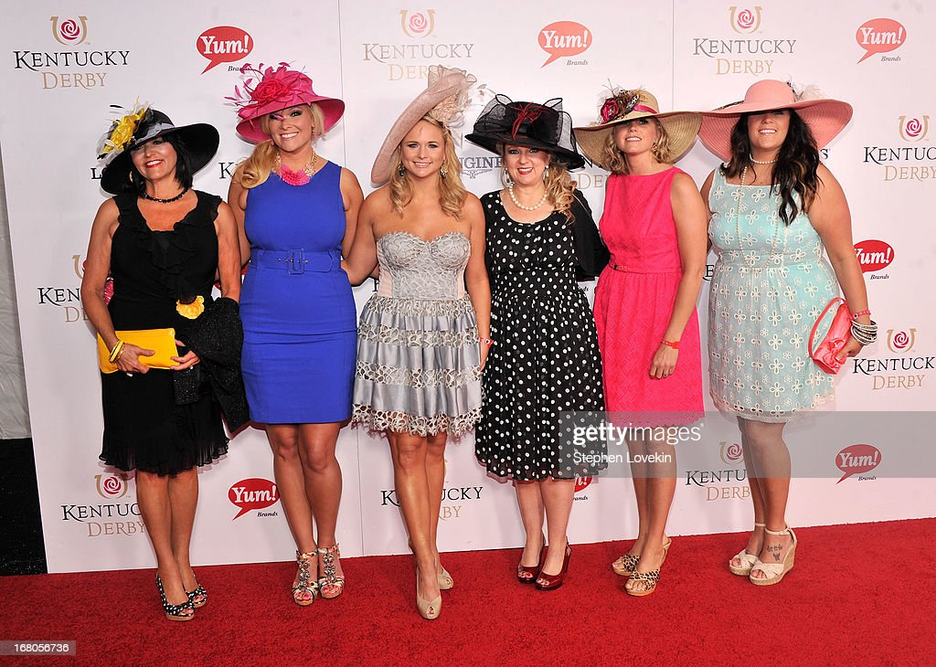 Singer Miranda Lambert (3rd from L) attends the 139th Kentucky Derby at Churchill Downs on May 4, 2013 in Louisville, Kentucky.