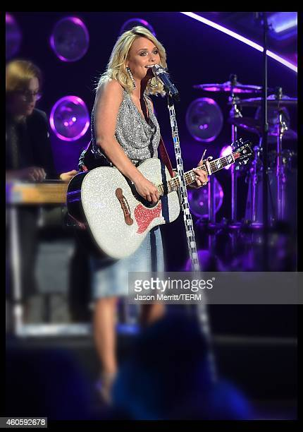 Singer Miranda Lambert attends the 2014 American Country Countdown Awards at Music City Center on December 15 2014 in Nashville Tennessee