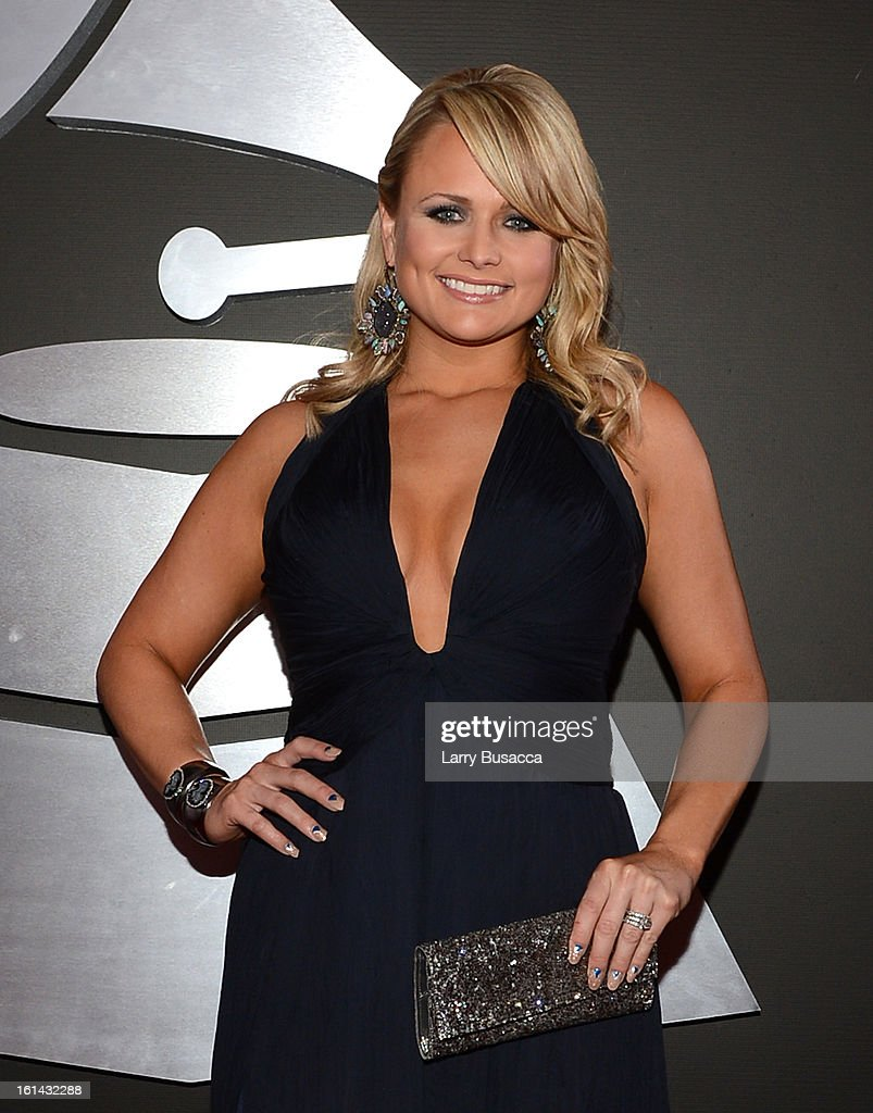 Singer <a gi-track='captionPersonalityLinkClicked' href=/galleries/search?phrase=Miranda+Lambert&family=editorial&specificpeople=571972 ng-click='$event.stopPropagation()'>Miranda Lambert</a> attends the 55th Annual GRAMMY Awards at STAPLES Center on February 10, 2013 in Los Angeles, California.