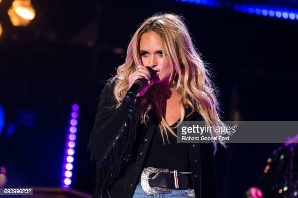 Singer Miranda Lambert performs at Nissan Stadium during day 1 of the 2017 CMA Music Festival on June 8 2017 in Nashville Tennessee