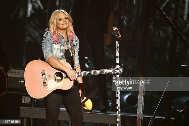Singer Miranda Lambert performs onstage at the 49th annual CMA Awards at the Bridgestone Arena on November 4 2015 in Nashville Tennessee