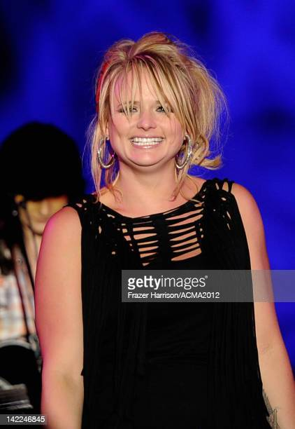 Singer Miranda Lambert performs onstage during Dr Pepper Private Performance Featuring Blake Shelton at the MGM Grand Hotel/Casino on March 31 2012...