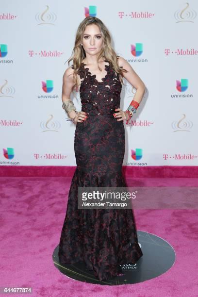 Singer Mirella Cesa attends Univision's 29th Edition of Premio Lo Nuestro A La Musica Latina at the American Airlines Arena on February 23 2017 in...