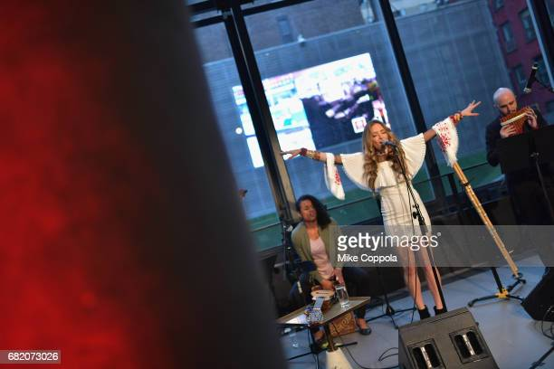 Singer Mirella Cesa performs during the 2017 CNNE Upfront on May 11 2017 in New York City 27008_001