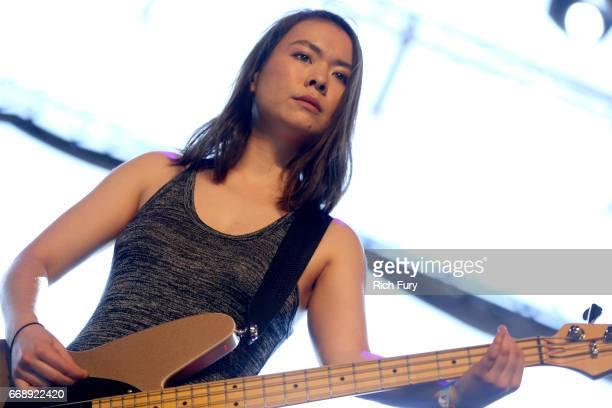 Singer Mitski performs onstage at the Gobi tent during day 2 of the Coachella Valley Music And Arts Festival at Empire Polo Club on April 15 2017 in...