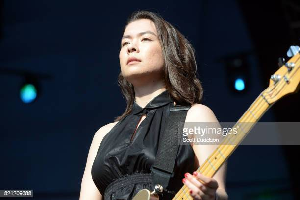 Singer Mitski performs onstage during FYF Fest on July 22 2017 in Los Angeles California