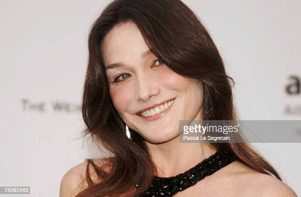 Singer / model Carla Bruni arrives at the Cinema Against Aids 2007 in aid of amfAR at Le Moulin de Mougins in Mougings on May 23 2007 in Cannes...