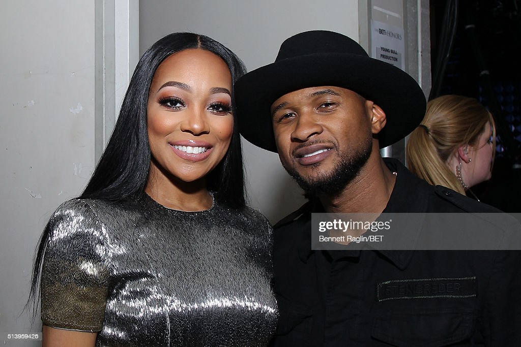 Singer Monica and singersongwriter Usher attend BET Honors 2016 at Warner Theatre on March 5 2016 in Washington DC