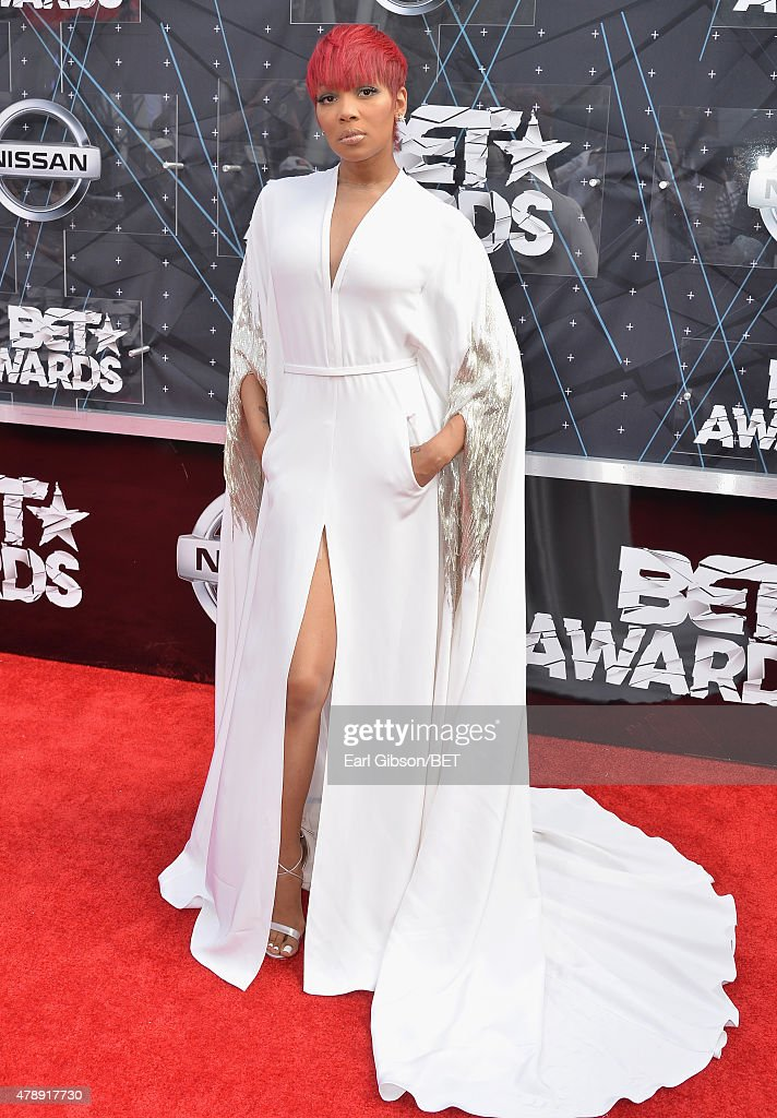 Singer Monica attends the 2015 BET Awards at the Microsoft Theater on June 28 2015 in Los Angeles California