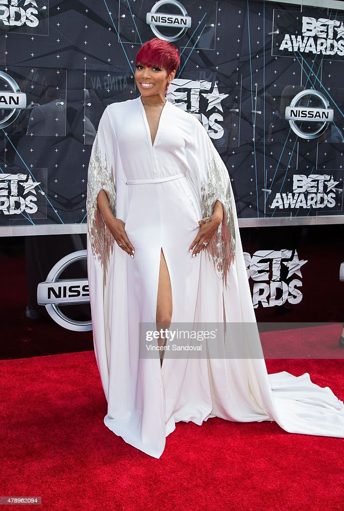 Singer Monica attends the 2015 BET Awards on June 28 2015 in Los Angeles California