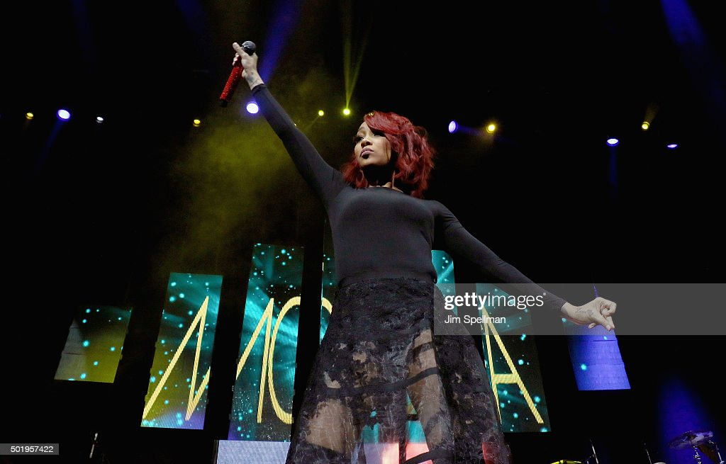 Singer Monica attends the 'Christmas In The City' concert at the Prudential Center on December 18 2015 in Newark New Jersey