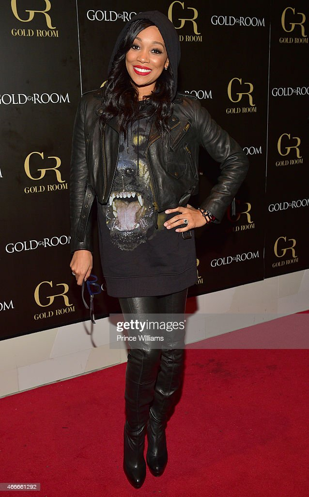 Singer Monica Brown attends the K Michelle and Monica Concert afterparty at Gold Room on March 12 2015 in Atlanta Georgia