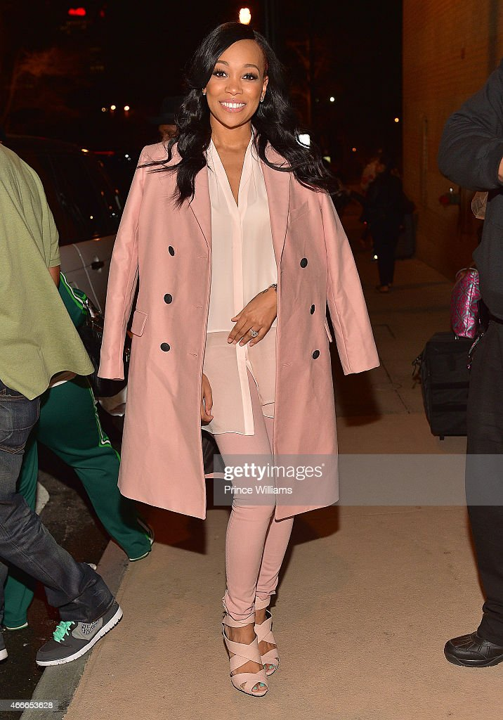 Singer Monica Brown attends the KMichelle concert at Fox Theater on March 12 2015 in Atlanta Georgia